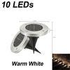 10leds 따뜻한 흰색