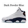 13s oscuro polvo azul