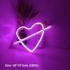 القلب F - الوردي