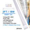 2Ft 18W V 형 투명 커버