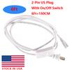 6ft 2pin US plug with switch