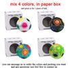 4 색을 종이 상자에 섞습니다