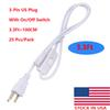 3.3ft US plug with switch