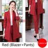 Costume de pantalons rouges