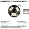 300W Model C Cold White Color