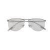 silver frame clear lens