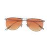 silver frame gradient orange lenses