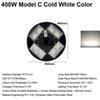 400W Model C Cold White Color