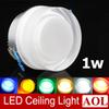 Colorful 1x1w LED acrylic crystal ceiling lamps 90lm aisle lights porch lamp wall lamp AC85-265V Round LED spotlight for house lighting