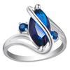 Silver + Blue