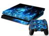 1Pcs skull High-quality PS4 Sticker 1 Console Skin and 2 Controllers Sticker skin For PS4 Free shiping