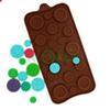 Muffa bottoni di cioccolato