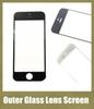 Front Outer Glass Lens Touch Screen Cover fit iphone 4s 4g iphone 5s 5c 5g repair parts black white free shipping SNP006