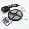 Free dhl Waterproof Non-waterproof 3528 RGB LED Strip Light Lamp 5M 300 Led SMD + IR Remote Controller + 12V 2A Power Transforme