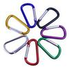 New Outdoor Sports Colorful Aluminum Carabiner Durable Climbing Buckle Hook Aluminum Camping Key Hanging Chain for Sale
