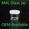 Food Grade 6ml Non Stick Glass Concentrate Container Glass Bottle Wax Dab Jar Thick Oil Container VS 5ml Glass Jar dhl free shipping