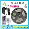Waterproof RGB 3528 RGB CW WW Green 5M 300 led lighting Led light Strip Waterproof 44 Keys IR Remote Controller+12V 2A Power Supply