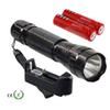 LED lanterna Cree XML T6 2000 Lumen LED Flashlight Torch light with 2*18650 battery and 1*charger