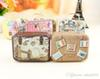 2016 New Retro Suitcase Candy Box Sweet Love Wedding Party Gift Jewelry Tin plate Boxes Mix 6 Style free shipping