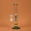 "Amazing Glass Pipe 9.8"" Water Smoking Pipe Perc Honeycomb Disk Pipe Bong With 5 Arm Tree Perc Vase 25cm Height 3 Colors WP044"