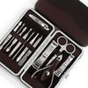 12pcs Manicure Set Pedicure Scissor Tweezer Knife Ear Pick Utility Nail Clipper Kit ,Stainless Steel Nail Care Tool Set