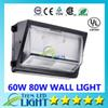DHL Oversea warehouse stock CREE 100W 120W led wall pack Outdoor Wall Mounted light meanwell driver DLC ETL Listed 90-277V led lightig