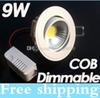 Best 9W Led COB Recessed Downlights Lamp 600LM 120 Angle Dimmable Cool Warm White Led Spot Ceiling Lights With Driver 110-240V CE ROHS SAA