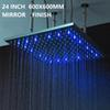 "24"" 600mm led showerhead mirror finish"