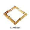 fashionable square natural bamboo root bangle bracelet