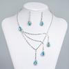 Best Selling Unique Wedding Bridal Bridesmaids Rhinestone Necklace Earrings Jewelry Set Prom In Stock Hot Sale 15015a