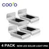Wholesale-4 Pack New LED Soalr light 2nd Generation16LED Outdoor Wireless Solar Powered PIR Motion Sensor Light Wall light Led sensor lamp