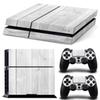 PS4 Wood Grain Decal Skin Stickers For PlayStation 4 Console + 2pcs Free Controller Stickers (size:1106)