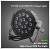 High Power 18*3W Led Stage Light RGB Par Light DMX512 Master Slave Led Flat Equipments Controller for DJ Party KTV Disco