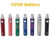 EVOD Battery 650mAh 900mAh 1100mAh 3 Colors Power Indicator EVOD MT3 Battery eGo Battery high quality