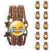 Handmade Woven Braided Round Emoji Bracelet...