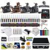 Tattoo Kit 4 Top Machine Gun 40 Color Ink Power Supply Needle Complete D139GD-11