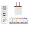 Metal Home Wall Charger US EU Plug Dual USB 2.1A AC Power Adapter 2 Ports For S6 LG Tablet iPad iPhone 7