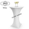 5PC Lot 2016 Bar Cocktail Fitted Table Cover Spandex White Round Based Stretch Bistros Table Covers of Wedding Banquet Party 80X110cm