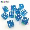 10pcs set T&G dice High Quality 12mm Blue Glitter Dice Dados dyd