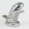 2016 New Snake Male Chastity Device Stainless Steel Cock Cage Toys Metal Cock Ring BDSM Belt Penis Bondage Sex Products