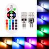Universal 2pcs set Remote Control 6 LED 12 LED T10 Car Interior RGBW LED Dome Reading Light DC 12V SMD 5050 Lamp Bulbs Car Light Sourse