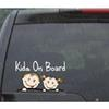 "Baby on Board ""KIDS ON BOARD"" Vinyl funny Car wall phone window Decal Sticker reflective yellow color stickers"