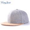 84efbb9977a KingSwit 2016 Hot Selling Patchwork Hip Hop Caps For Men Women Fashion Cork  Brim Hats Woolen Material Caps KH034