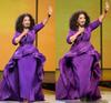 Oprah Winfrey Evening Dresses Sheath Celebrity Gowns Middle East Dubai Arabic Style Purple Evening Party Dress Formal Plus Size Women Wear