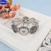 REALLY Fashion Design Noosa Metal Button Tin Alloy With Rhinestone 18MM stretched Chunk Snap Bracelets Free Shipping