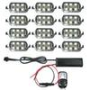 12 POD 72 5050 SMD RGB LED Universal Motorcycle Accent Neon Underglow Light 15 Color Change Kit