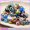 9*14 mm Mix Color Murano Glass Loose Beads Big Hole fit DIY European Pandora Jewelry Braclet Charms Bracelets, Jewelry Findings