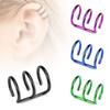 16g Stainless Steel 3 Row Cirle Helix Fake Cartilage Clip on Ear Cuff Wrap Earring Non Pierced Earring