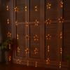 Wholesale- 1.5M*1.5M Star LED Curtains String Light Holiday Fairy Christmas Curtain Lights Decoration Garlands Wedding Room Decor Lighting