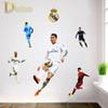 NEW Creative Soccer DIY Wall Stickers Kids Room Wall Decorations Living Room Football Player Cristiano Ronaldo 3D Wall Decals